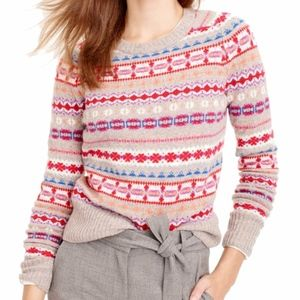 J. Crew 100% Wool Holly Sweater in Fair Isle